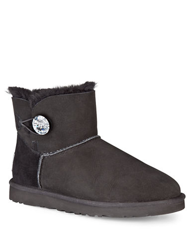 UGG AUSTRALIA Mini Bailey Button Bling Boots
