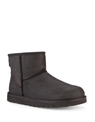 ugg australia female classic mini shearlinglined leather boots