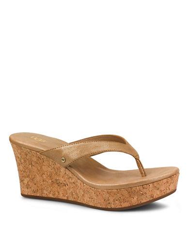 UGG AUSTRALIANatassia Leather Wedge Sandals