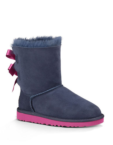 UGG AUSTRALIA Toddlers Bailey Bow Sheepskin Boots