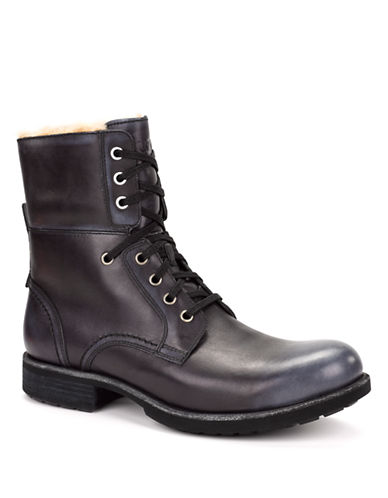 UGG AUSTRALIAMens Larus Leather Ankle Boots