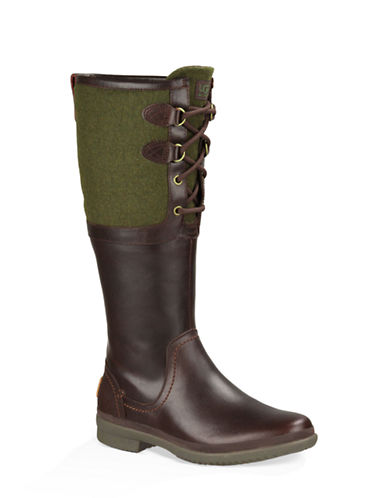 Buy Ladies Elsa Leather and Wool Blend Boots by Ugg online