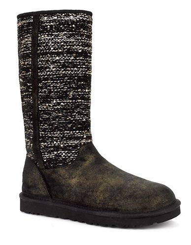 UGG AUSTRALIALadies Camaya Metallic Suede Boots