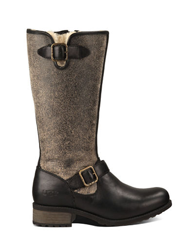 UGG AUSTRALIA Ladies Chancery Sheepskin and Leather Boots