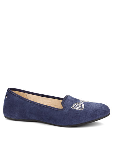 UGG AUSTRALIA Alloway Crystal Bow Suede Flats