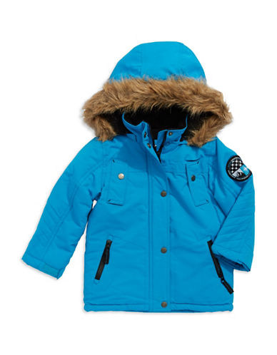 BIG CHILLGirls 2-6x Faux Fur Accented Down Coat