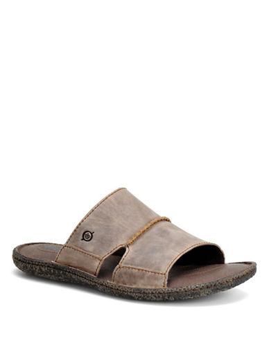 BORN SHOEGideon Leather Slide Sandals