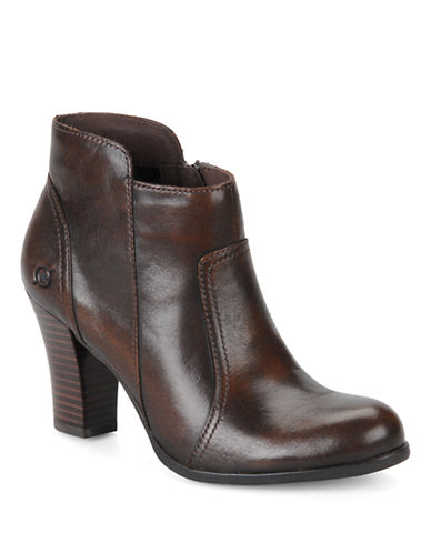 BORNClaire Leather High-Heel Ankle Boots