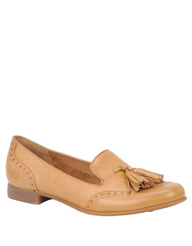 BORNCharmaine Full-Grain Leather Loafers