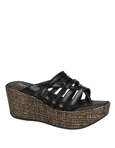 BORNHanae Full-Grain Leather Wedge Sandals