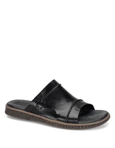 BORN SHOEElian Leather Slide Sandals