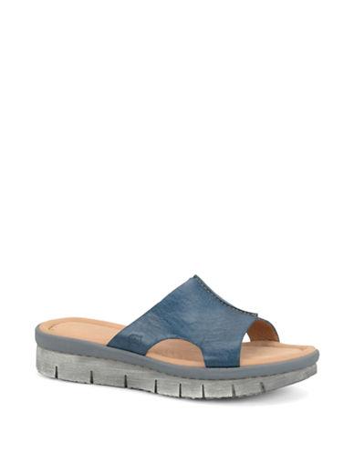 BORNInola Leather Platform Slide Sandals