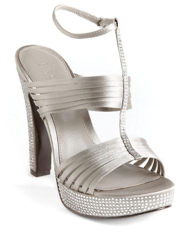 LAUREN RALPH LAURENFiona Encrusted Satin Platform Sandals