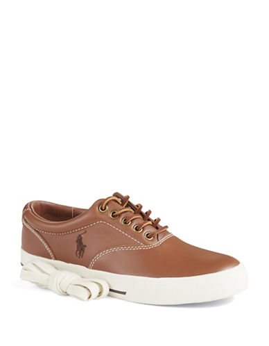 POLO RALPH LAUREN Vaughn Leather Lace-Up Sneakers
