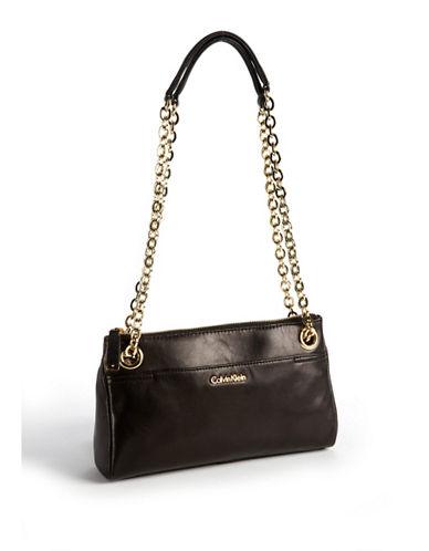 CALVIN KLEINChainlink Leather Handbag