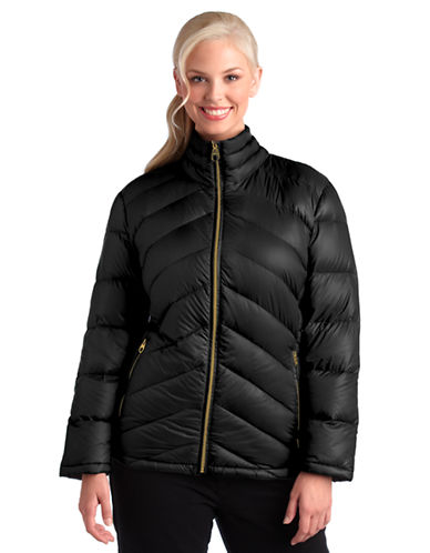 Plus Zip Front Packable Jacket