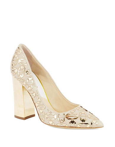 POLLINI Mirrored Tribal Pumps