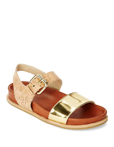 POLLINICork and Leather Sandals