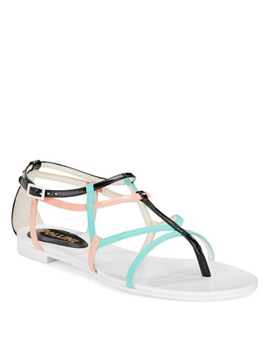POLLINI Leather Thong Sandals
