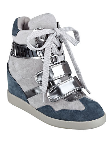 GUESS Trevian Suede Wedge Sneakers