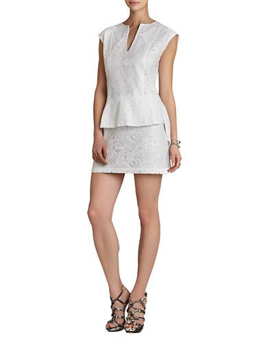 BCBGMAXAZRIAIsabel Draped Side Peplum Dress