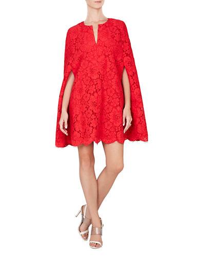 BCBGMAXAZRIABrynna Lace Cape Dress