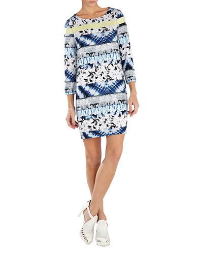 Shop Bcbgmaxazria online and buy Bcbgmaxazria Calico Printed Shift Dress dress online