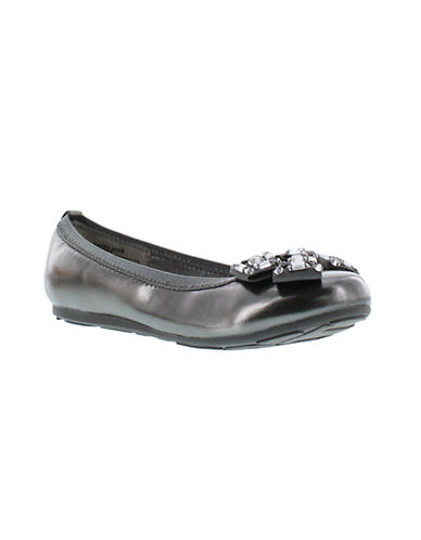 STUART WEITZMAN Fannie Bree Faux Leather Ballet Flats