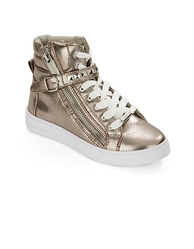 michael kors female kids ivy shine hightop sneakers