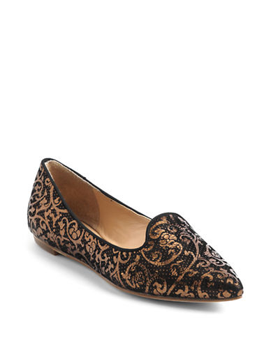 BELLE BY SIGERSON MORRISONSadie Leather Smoking Flat