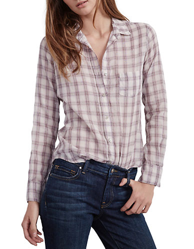 Velvet By Graham And Spencer Plaid Shirt