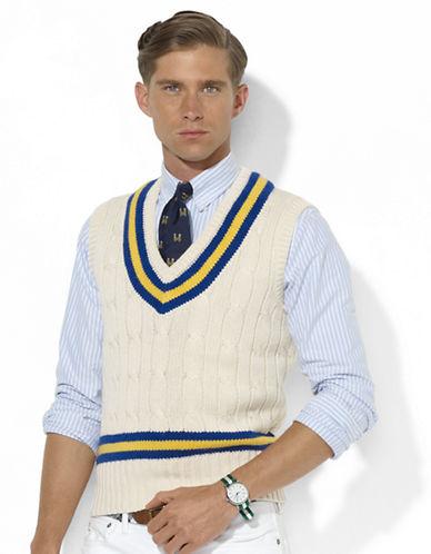 POLO RALPH LAURENCotton-Blend Cricket Cabled Vest
