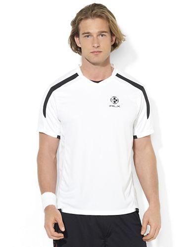 POLO RALPH LAURENRLX Short-Sleeved Pieced Mesh Crewneck Shirt