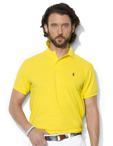 POLO RALPH LAURENClassic-Fit Short-Sleeve Cotton Mesh Polo