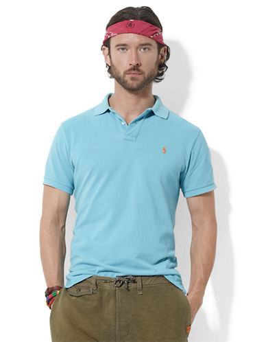POLO RALPH LAURENCustom-Fit Short-Sleeved Weathered Mesh Polo