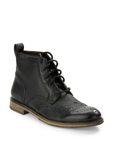 JOHN VARVATOS U.S.A. Leather Wingtip Ankle Boots