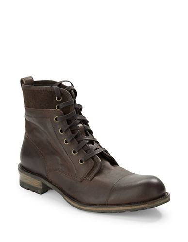JOHN VARVATOS U.S.A. Lincoln Leather Ankle Boots