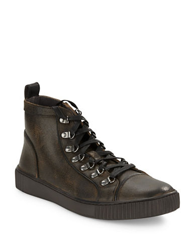 JOHN VARVATOS U.S.A. Bedford Lace-Up Leather Boots