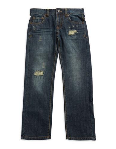 LUCKY BRANDBoys 8-20 Distressed Straight Leg Jeans