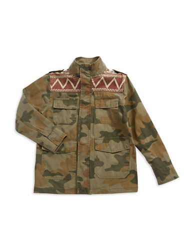 LUCKY BRAND Boys 8-20 Camouflage Military Jacket
