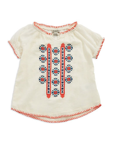 LUCKY BRANDGirls 7-16 Embroidered Peasant Top