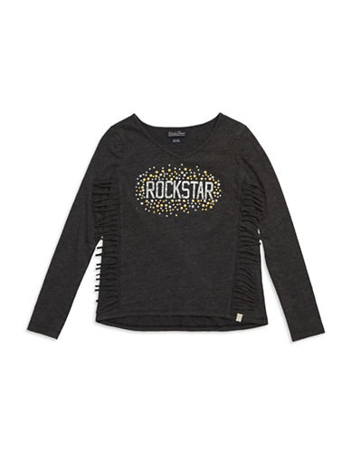 LUCKY BRAND Girls 7-16 Studded Rockstar Tee