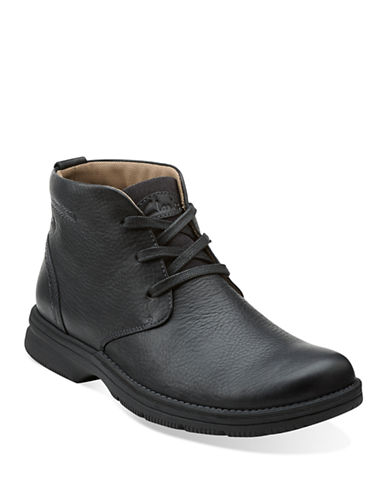 CLARKS Senner Drive Leather Boots