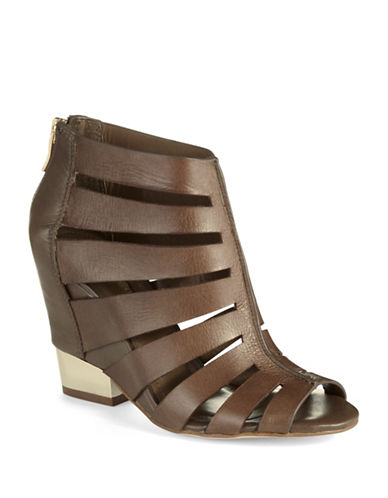 BCBGENERATION Charlie Leather Wedge Sandals