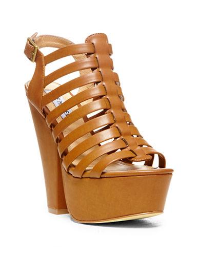 STEVE MADDENGlendael Synethic Strappy Platform Sandals