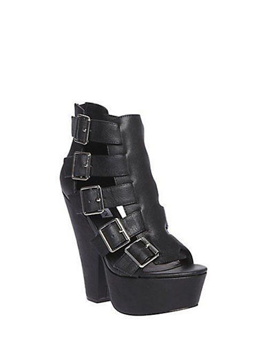 STEVE MADDEN Egnite Leather Platform Sandals