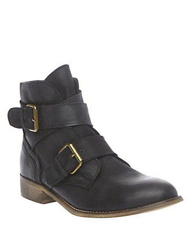 STEVE MADDEN Teritory Leather Booties