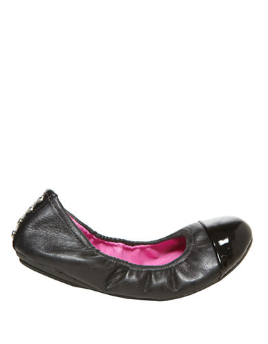 STEVE MADDEN Faux Leather Ballet Flats