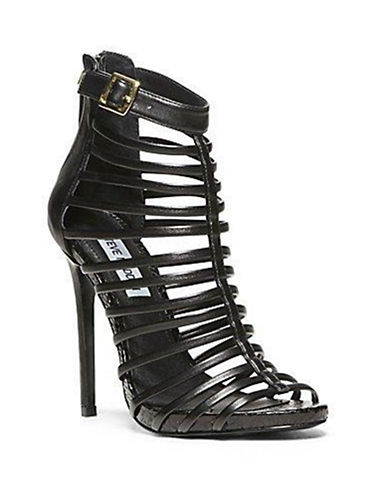 STEVE MADDEN Marnee Metallic Leather Strappy Stilettos