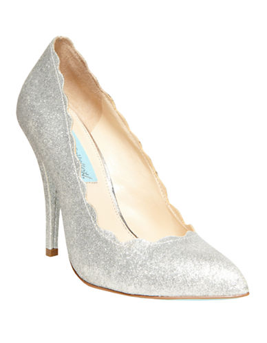 BETSEY JOHNSON Altar Faux Leather Shimmer Pumps